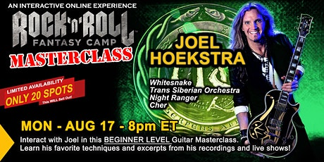 Beginner Guitar Masterclass with Joel Hoekstra of Whitesnake! tickets