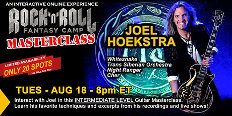 Intermediate Guitar Masterclass with Joel Hoekstra of Whitesnake! tickets