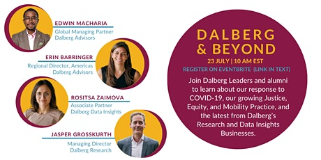 Dalberg&Beyond - Webinar 3 tickets