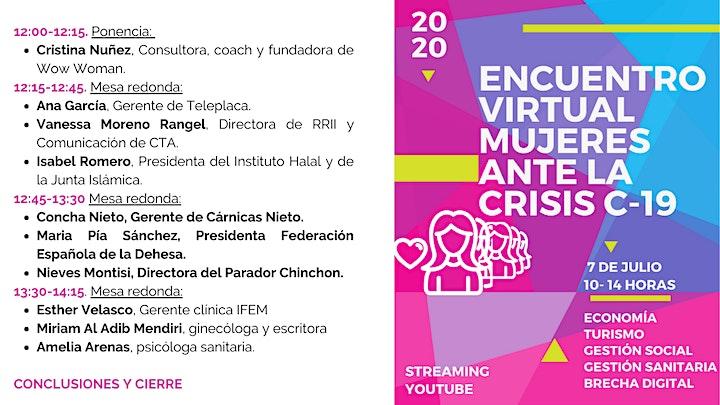 Imagen de Encuentro  Virtual de Mujeres ante a la crisis del C19