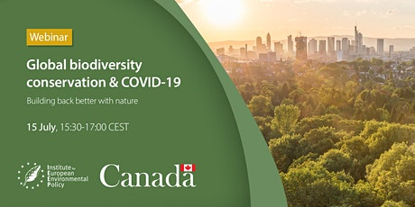 Global Biodiversity Conservation & COVID19 Building Back Better with Nature tickets
