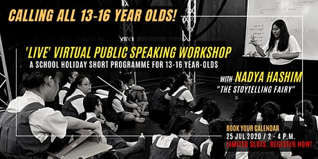 Virtual Public Speaking Workshop for Youths (13-16 years old) tickets