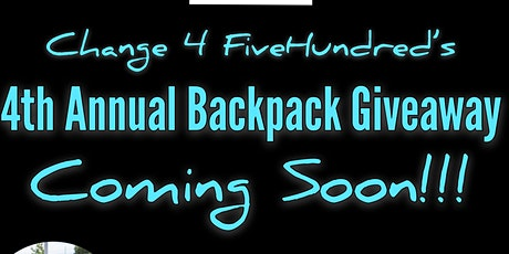 Change 4 FiveHundred's Fourth Annual Backpack Giveaway Drive-Thru Edition tickets