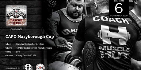 CAPO Maryborough Cup tickets
