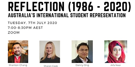 Reflection on Australia's International Student Representation (1986-2020) tickets