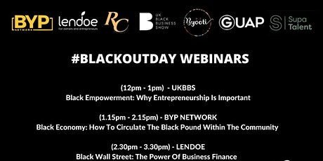 BLACK OUT DAY WEBINARS tickets