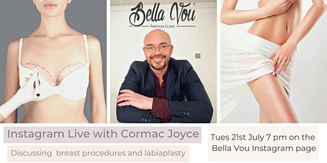 Facebook live with Cormac Joyce discussing Breast surgery and Labiaplasty tickets