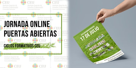 Jornada Online Puertas Abiertas | Ciclos Formativos CEU entradas