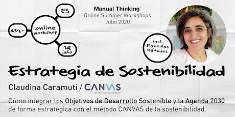 Estrategia Sostenible con Claudina Caramuti / Canvas entradas