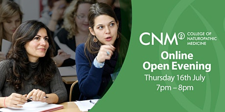 CNM Online Open Evening - Thursday 16th July 2020 tickets