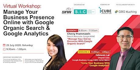 Manage Business Presence Online | Google Organic Search & Google Analytics tickets