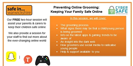 Prevent Online Grooming Training: Keeping your family safe tickets