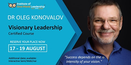 Visionary Leadership - 3 Day - Certified Course tickets