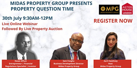 30th July 2020 Property Question Time  tickets