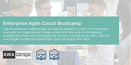 ONLINE Enterprise Agile Coach Bootcamp (ICP-ENT & ICP-CAT) | August 2020 tickets