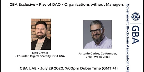 GBA Exclusive - Rise of DAO - Organizations without Managers tickets