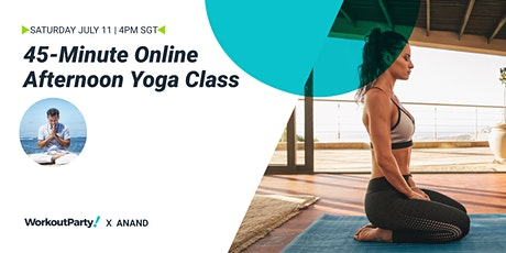 45-Minute Online Afternoon Yoga Class tickets