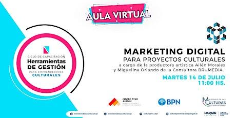 Marketing digital para proyectos culturales tickets
