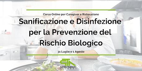 Corso Sanificazione e Disinfezione - Caregiver e Ristorazione biglietti
