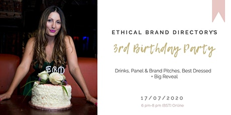 Ethical Brand Directory's 3rd Birthday Party tickets