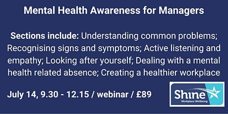 Mental health awareness training for managers tickets