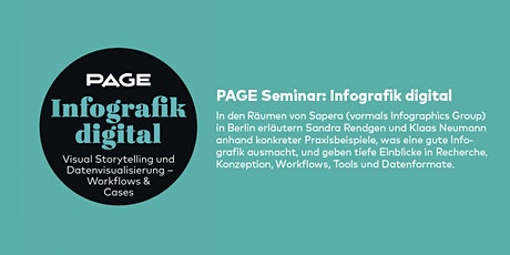 NEW DATE! PAGE Seminar »Infografik digital« mit Sapera GmbH in Berlin Tickets