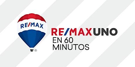 """Webinar """"RE/MAX UNO en 60 minutos"""" miércoles 22 de julio de 2020, 18.00 hs. entradas"""