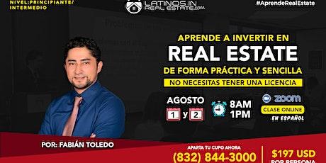 Aprende a Invertir en Real Estate de forma practica y sencilla! boletos