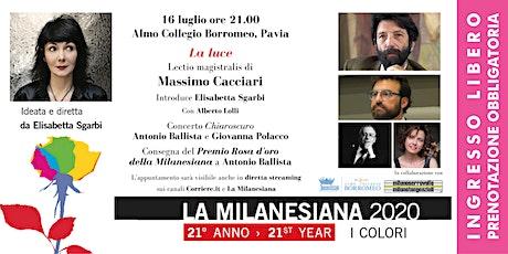 La Milanesiana - La luce biglietti