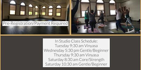 In Studio Yoga Classes - All Levels tickets
