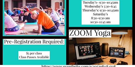 Zoom Online Yoga Classes tickets