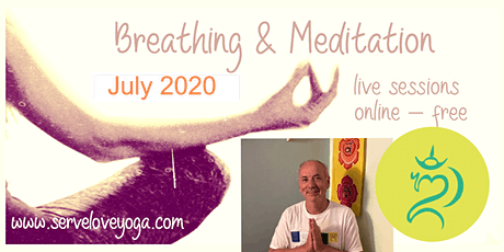 Breathing and Meditation. Free online sessions tickets