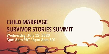 Child Marriage Survivor Stories Summit tickets
