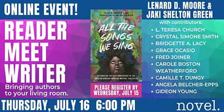 READER MEET WRITER: ALL THE SONGS WE SING tickets