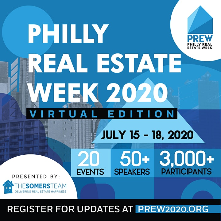 VIP All Access Pass to Philly Real Estate Week 2020- 20 events (Virtual Ed) image