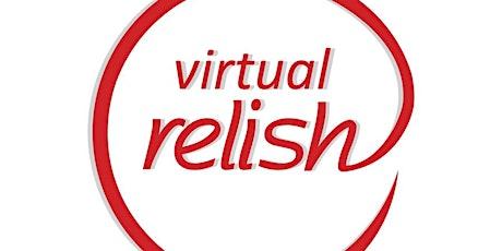 Edingburgh Virtual Speed Dating   Do You Relish?   Singles Events tickets