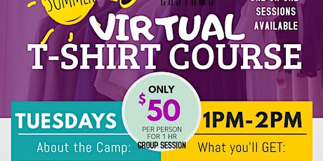 T-Shirts Course for Kids: Virtual Edition tickets