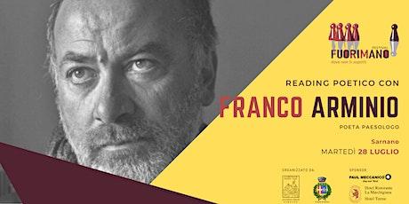 Reading poetico con Franco Arminio tickets