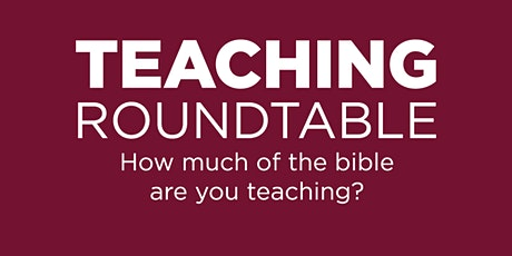 Teaching Roundtable: Messianic Expectations in the Old Testament tickets