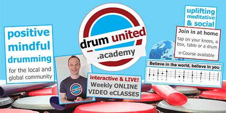 Families drum jam  ~ POSITIVE MINDFUL DRUMMING  ~ interactive LiveStream billets