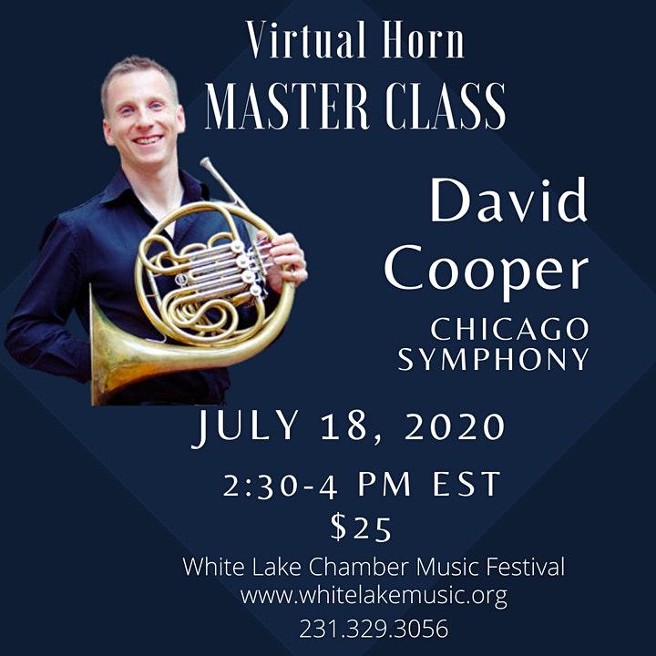 Horn Master Class Chicago Symphony Orchestra's David Cooper image