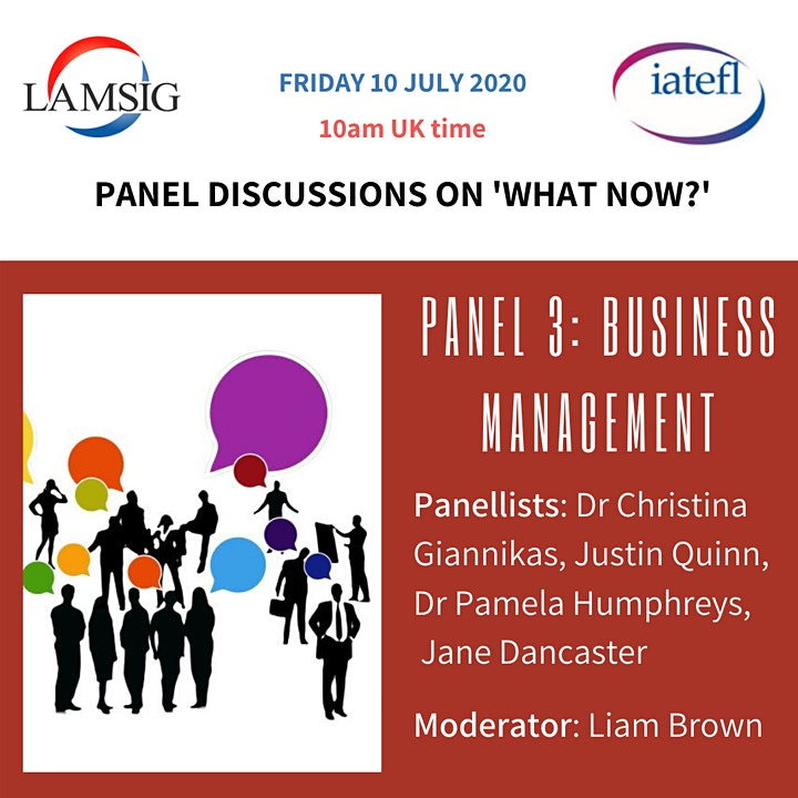 IATEFL LAMSIG Discussion Panels: What Now? Panel 3. Business Management image