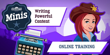Copywriting Course ONLINE - Writing Powerful Content - September 2020 tickets
