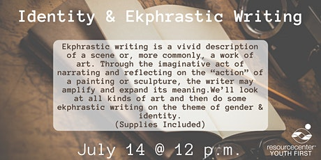 Art Camp: Identity & Ekphrastic Writing tickets