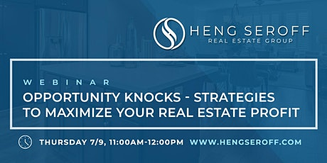 Opportunity Knocks - Strategies to Maximize Your Real Estate Profit tickets