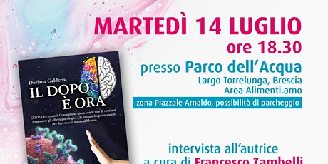 """presentazione del libro """"IL DOPO è ORA"""" della psic biglietti"""