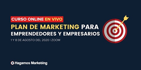 Curso online Plan de Marketing para Emprendedores y Empresarios entradas