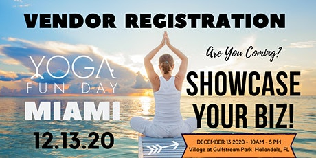 Miami Yoga Festival - Yoga Fun Day Miami Village at  Gulfstream Park Vendor tickets