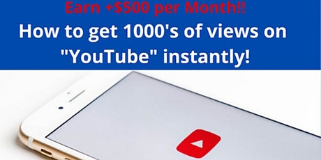 How you can earn $500 to $5,000+ month by simply building YouTube Channels! tickets