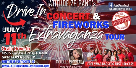 Latitude28's Drive In Concert and Fireworks Extravaganza Tour! tickets